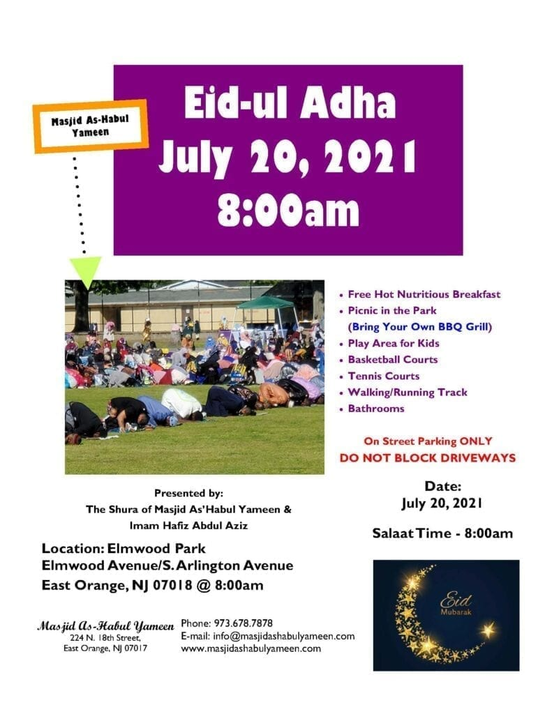 Eid Adha 2021 Flyer
