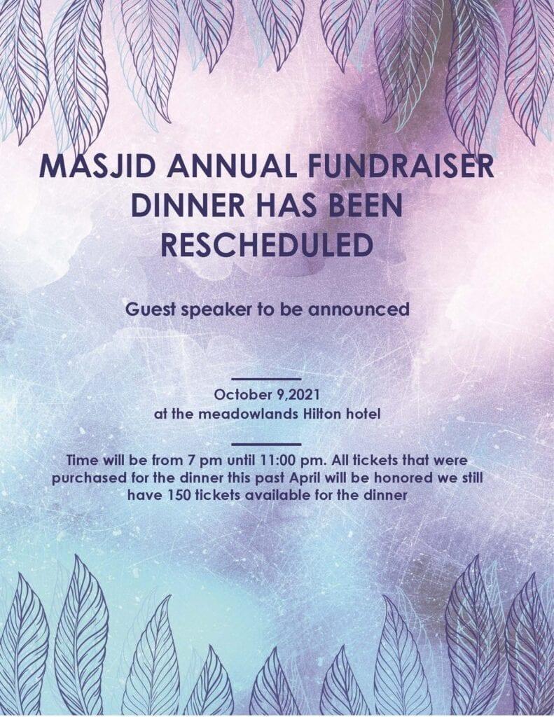 Masjid annual fundraiser dinner